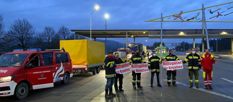Hilfslieferung nach Kroatien